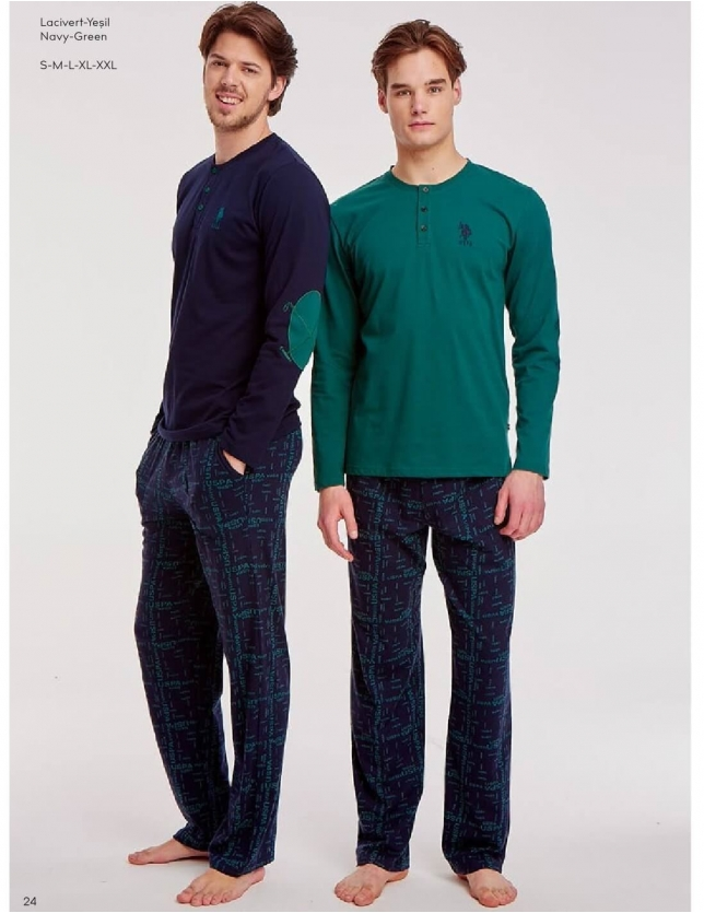 US Polo 17524 Erkek Patlı Pijama Takım