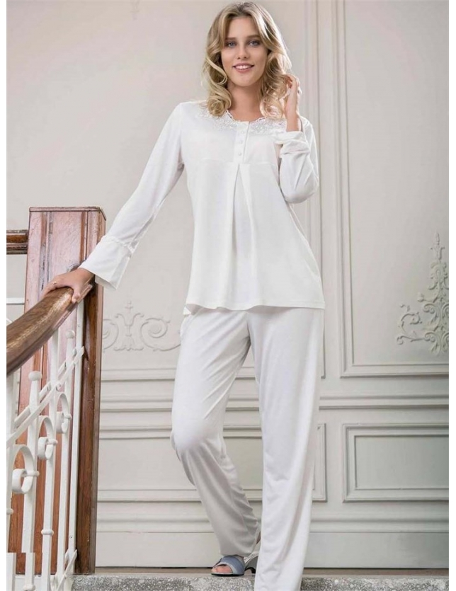 Yeni İnci BPJ105 3'lü Viskon Pijama Takımı