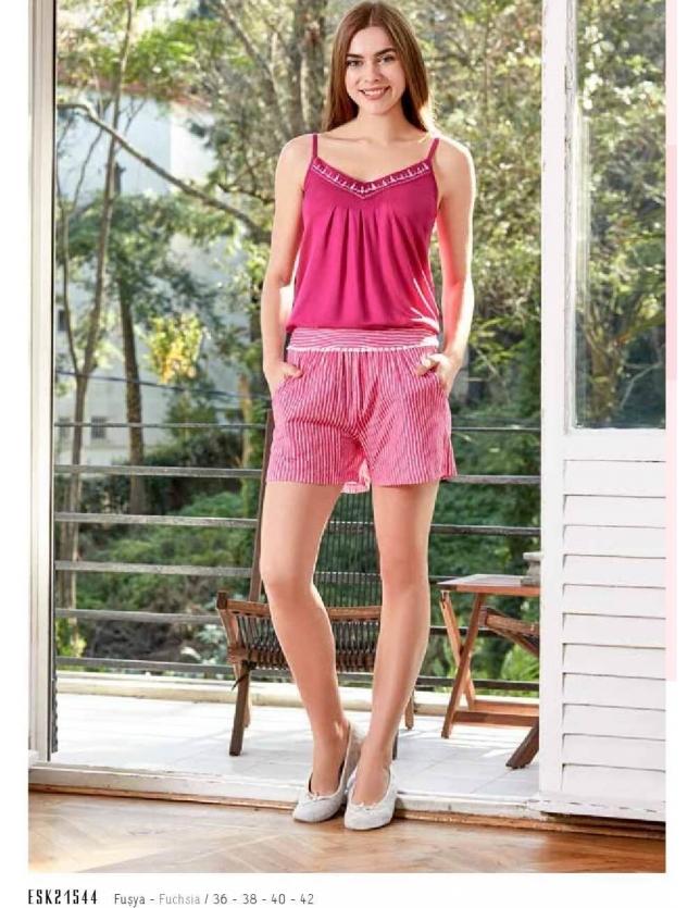 Eros ESK 21542 Yuvarlak Yaka Bayan Pijama Takım