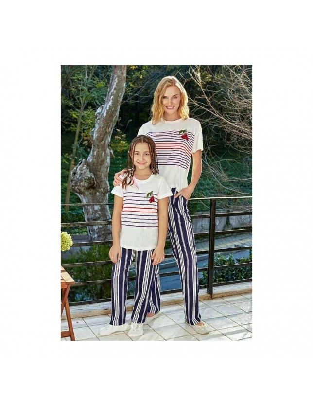 Eros Esc 21523 O Yaka Kız Çocuk Kısa Kollu Pijama Takımı